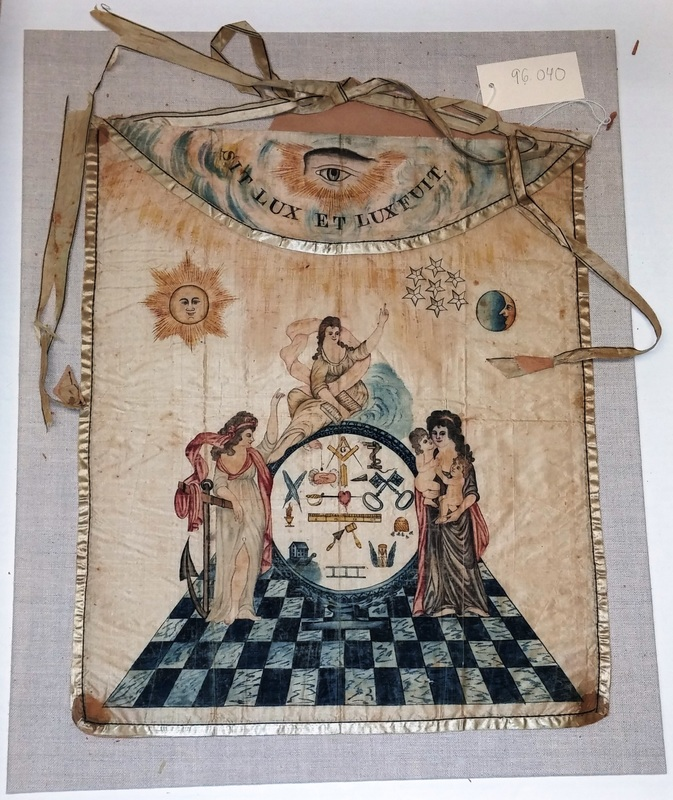 Conserving Aprons from the Scottish Rite Masonic Museum